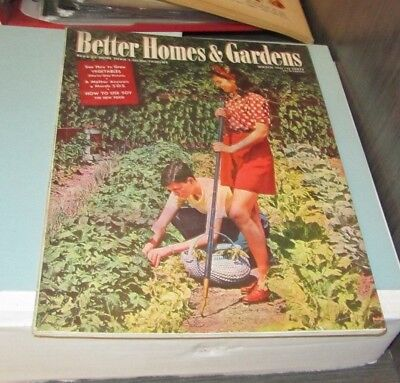 March 1944 Better Homes & Gardens Magazine Growing Vegetables Soy The New