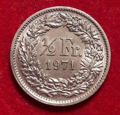 Monnaie, Suisse, 1/2 Franc, 1971, Bern, TB+, Copper-nickel, KM:23a.1