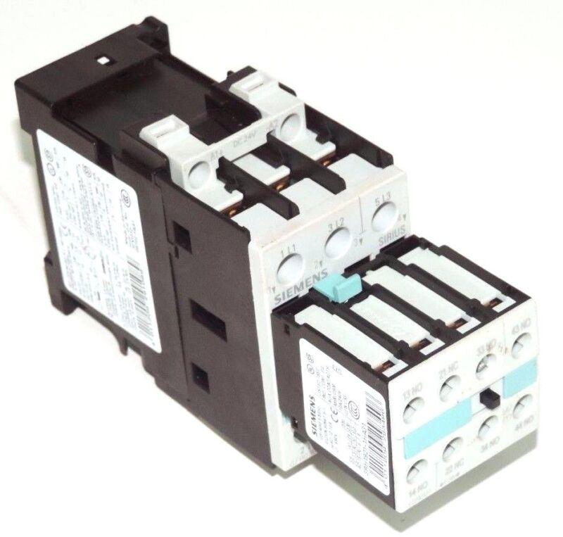 SIEMENS 3RT1025-1B CONTACTOR WITH 3RH1921-1HA31 CONTACT BLOCK