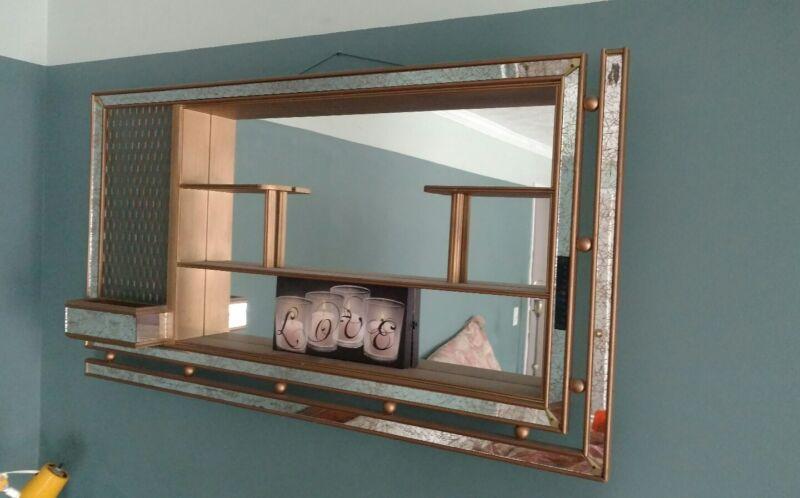 mid century modern mirrored shadowbox RARE RETRO EAMES Space Age piece