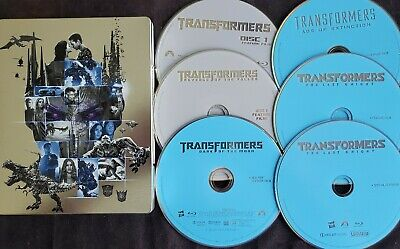 Transformers 5-Movie Collection (Limited Steelbook Edition, 6 Blu-ray Discs) VGC