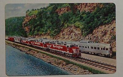 Burlington Route Railroad Wallet Card Calendar - 1964