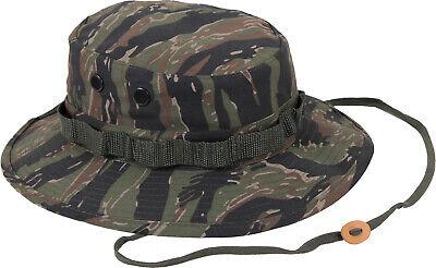 Tiger Stripe Camouflage Military Wide Brim Boonie Hat
