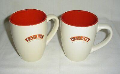 Set of 2 R.A. Baileys Irish Cream Coffee Mug Cup 12 oz
