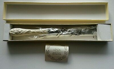 LENOX CHINA Cherish Ivory Cake Knife Wedding Anniversary with - Ivory Cake Box