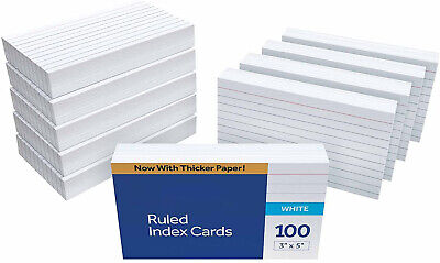 Ruled Index Cards 3 X 5 White 1000 Cards  Colorful Index Cards.