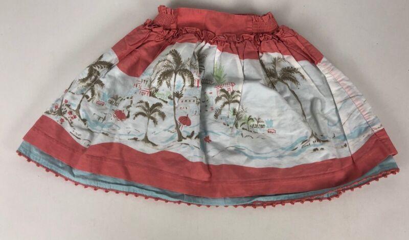Janie and Jack Girls SCENIC LOCALE CRUISE Resort Twirl Skirt Peach 12-18 Months