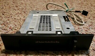 HP Pocket Media Drive Bay P/N 5003-0667 + Removable Plastic Cover + -