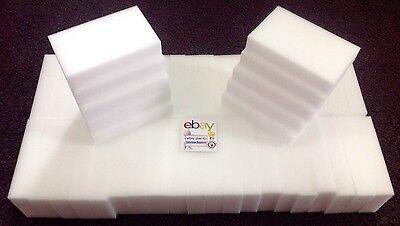"""50 BULK PACK Magic Sponge Eraser Melamine Cleaning Foam 3/4"""" Thick USA Seller"""
