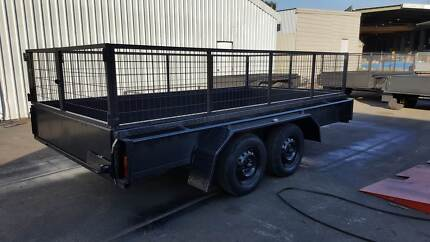 12x6 TANDEM TRAILER W/ CAGE 2000KG 1 PCE FOLD FULL CHECKER PLATE South Windsor Hawkesbury Area Preview