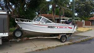Runabout 445 stacer 1997 with 50 hp evinrude Forrestfield Kalamunda Area Preview