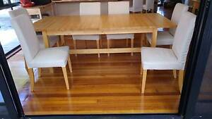 Ikea Norden Extendable Table (up to 303cm) - with 6 Chairs Cornubia Logan Area Preview