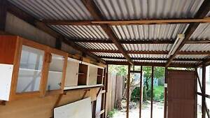 Free single garage tin roof, timber  studs, single roller door.. Toowoomba Toowoomba City Preview