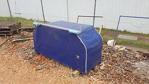 Dog Cage Ute Crate Dog Box - PVC Canopy Lift up doors Boat Roller Orange Orange Area Preview