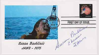 SIGNED SUSAN BACKLINIE FDC AUTOGRAPHED FIRST DAY COVER JAWS