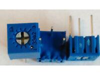 10 Bourns 3299Z-1-102 1K 25 Turn Side Adjust Trimmer Potentiometers