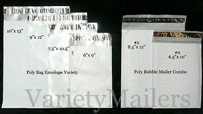 40 Shipping Envelope Mixed Lot Of Poly Bubble Poly Bag Self-sealing Mailers