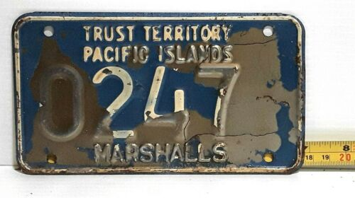 MARSHALL ISLANDS - 1969 motorcycle license plate - very tough early example