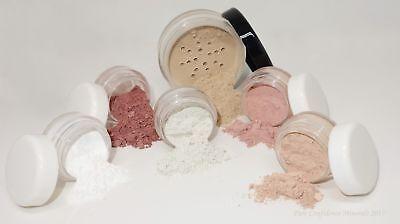 6pc Basic Starter Kit Mineral Makeup foundation bare skin organic natural spf15 - Basic Makeup Kit