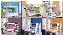 new bunk beds 7 models available blue white purple green colored Casula Liverpool Area Preview