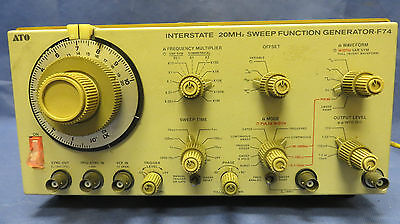 Interstate F-74 F74 20mhz Sweep Function Generator