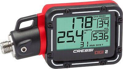 Cressi Digi 2 rot Finimeter Digital / Manometer mit Schlauch