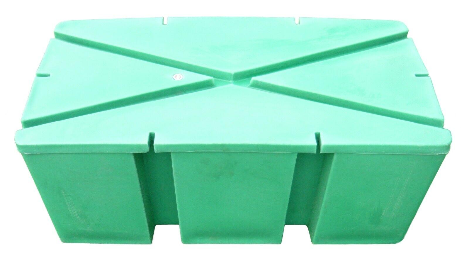 Ponton Schwimmplattform Schwimmkörper 15 Kg Verdrängung 200 Kg 100x50x42 cm
