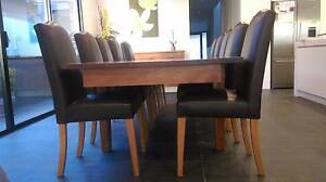 10 upholstered dining chairs / kitchen chairs – leather look Brunswick West Moreland Area Preview
