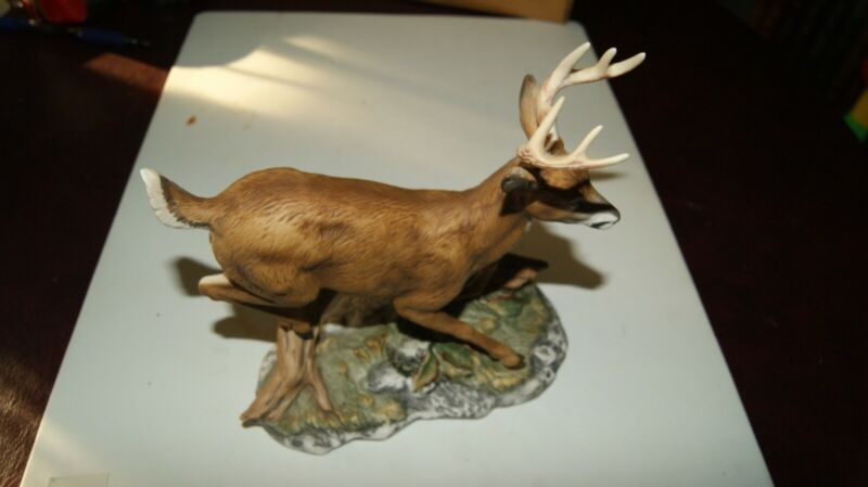 Masterpiece Porcelain Homco Buck Deer Figurine 1986. EXCELLENT CONDITION!!!!!