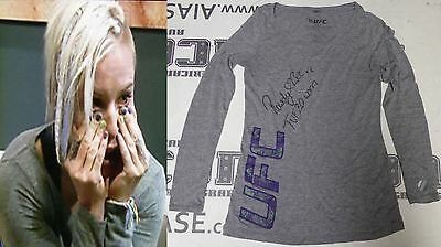 Rowdy Bec Rawlings Signed Personally Worn Used Tuf 20 Ufc Fight Shirt Bas Coa 1