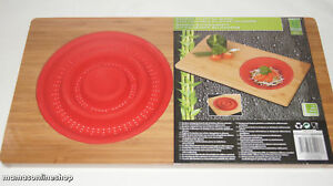 Bamboo Chopping Cutting Board over the sink Silicone Colander Kitchen Worktop
