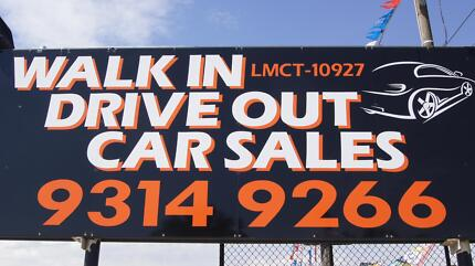 WALK IN DRIVE OUT CAR SALES