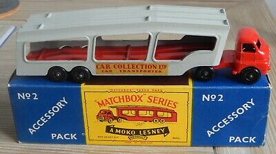 Boxed Moko Lesney Bedford Car Transporter. No 2 Accessory Pack - Red/grey