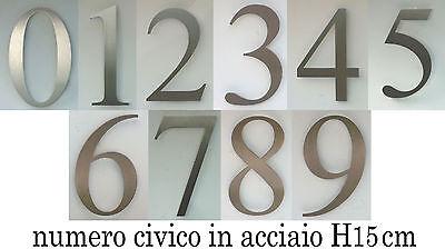 NUMERO CIVICO IN ACCIAIO - h 15 cm