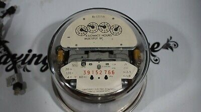 Sangamo Form 4s Watthour Meter Type S5s 4w Wye 3 Phase Analog Potential Light A