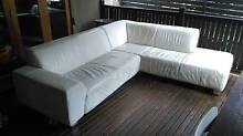 used white leather lounge Parkes Area Preview