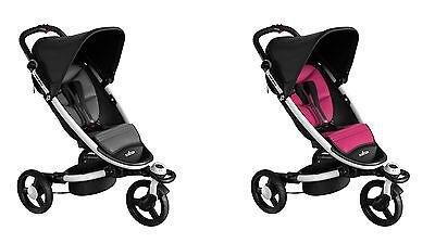 Sitzkissen, Sitzauflage, Textilauflage, wendbar in Grau u. Pink, für BabyZen Zen