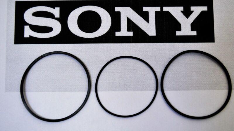 SONY CDP-CX355 300 CD Changer 3 Belt Set CD Changer Loading & Door USA Seller
