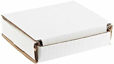 50 - 4x4x1 Small White Corrugated Cardboard Packaging Shipping Mailing Box Boxes