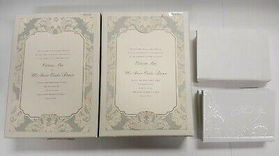 Diy Invitation Kits (Anna Griffin Wedding Invitation Kit #TW127 - Silver Cream Stationary - 35 -)