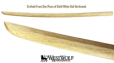 Japanese White Oak Practice Sword -- Wooden Training Katana/Samurai/Bokken - NEW