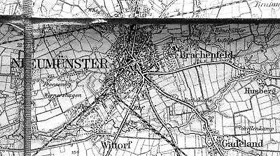 NEUMÜNSTER, Großblatt 18, Karte des Deutschen Reiches, 1:100.000, um 1900