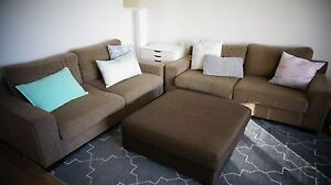 2 Freedom 3 seater sofas and large ottoman Ryde Area Preview