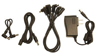 Extension Cable Kit - Guitar pedal power supply effects  5-way daisy chain & 6ft extension cable kit