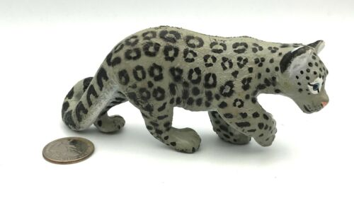 "Wildlife Artists Inc. SNOW LEOPARD CUB Vintage Figure 5 1/2"" Rare!"