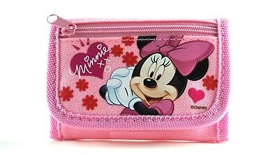 Disney Minnie Mouse Pink Tri-Fold Mini Wallet Coin Purse for Kids (Minnie Mouse Stuff)
