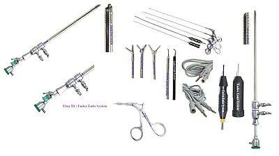 Hysteroscopy Set 26fr Operative 18fr Diag Sheath Semi Rigid Forcep Electrode 9pc