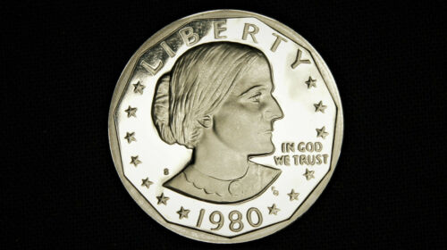 1980 S Susan B Anthony (SBA) Proof Dollar Gem Deep Cameo