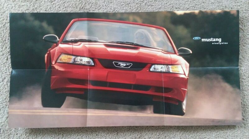 1999 Ford MUSTANG POSTER Brochure with GT / CONVERTIBLE