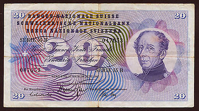 Schweiz / Switzerland 20 Franken 1967-1974 Pick 46 (3)